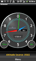 Screenshot of DS Altimeter