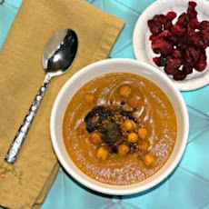 Carrot Lentil Soup With Chickpeas