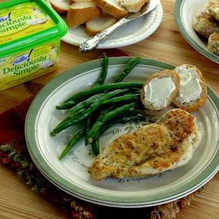 Herbed Chicken Cutlets with a Lemon Garlic Sauce