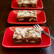 Ghirardelli Chocolate Brownies with Peppermint Bark