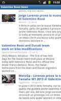 Screenshot of Valentino Rossi News