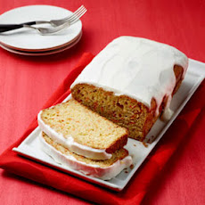 Carrot Loaf Cake with Yogurt Glaze