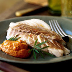 Red Snapper Baked in Salt with Romesco Sauce