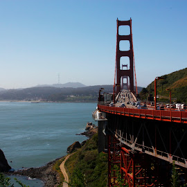 Golden gate bridge. by Silvana van Engelen - Landscapes Travel ( view, golden gate, bridge, usa )