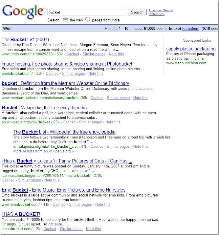 BucketGoogleSearch
