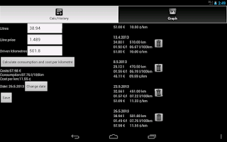 Screenshot of Fuel Calculator Premium