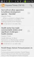 Screenshot of Guyana NewsFeed
