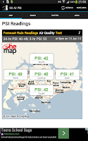 Screenshot of SG Air Quality (PSI)