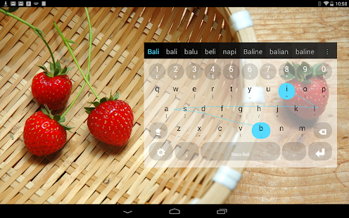 Balinese Keyboard plugin - screenshot