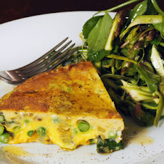 Asparagus and Sweet Pea Frittata With Minty Spring Salad