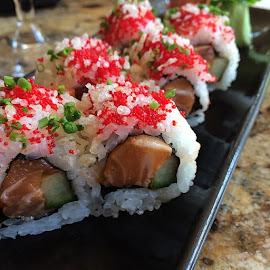Sushi how I love the. by Richard Wood - Food & Drink Plated Food ( seastar )