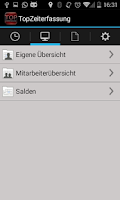 Screenshot of TopZeiterfassung