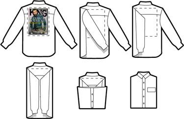 Como doblar una camisa para la maleta o el armario - Como doblar una camisa ...