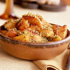 Saffron Potatoes with Almonds