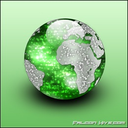 World Icon green