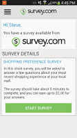Screenshot of Survey.com Mobile