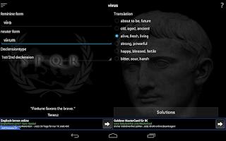 Screenshot of Latin Trainer