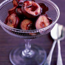 Plums Roasted With Sloe Gin
