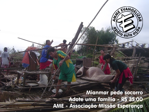 Socorro para Mianmar - AMME e AME juntas