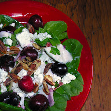 Spinach Summer Cherry Salad
