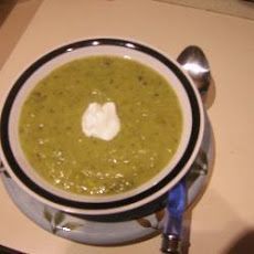Leek, Potato and Pea Soup