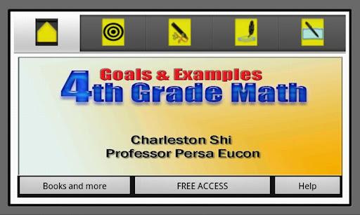 4th Grade Math Goals Examples