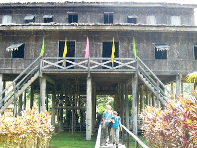 Sarawak Cultural Village   Melanau Tall House picture kuching escapade  photo