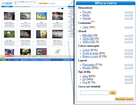 Exalead motore di ricerca di immagini