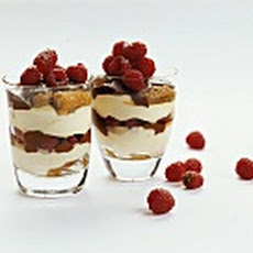 Raspberry Jell-O and Espresso- Sour Cream Panna Cotta Parfait.