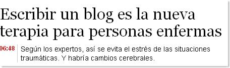 Escribir un blog es la nueva terapia para personas enfermas