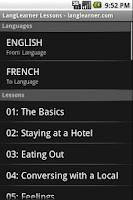 Screenshot of Spanish Lessons and Flashcards