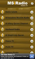 Screenshot of MS iRadio Listen Live Channels