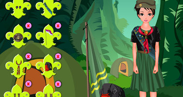 Screenshot of Scout camp – dressup game