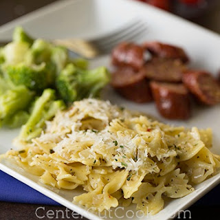 Parmesan and Garlic Farfalle