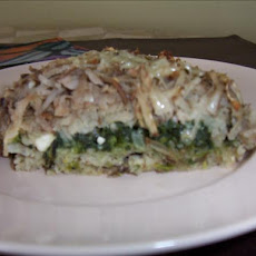 Spinach Potato and Feta Bake