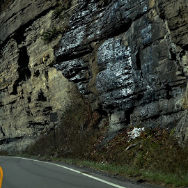 My Drive Daily by Linda Blevins - Landscapes Travel ( cliffs, ice, road, rocks )