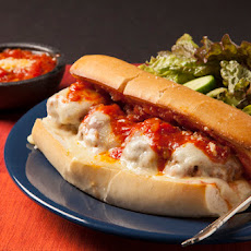 Meatball Subs with Red-Leaf Salad