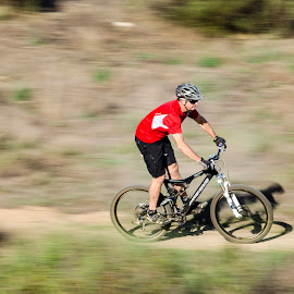 Speed by Robert Aaronson - Novices Only Sports ( mountain biking spring, Bicycle, Sport, Transportation, Cycle, Bike, ResourceMagazine, Outdoors, Exercise, Two Wheels )