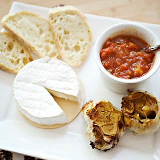 Brie, Roasted Garlic and Tomato Chutney