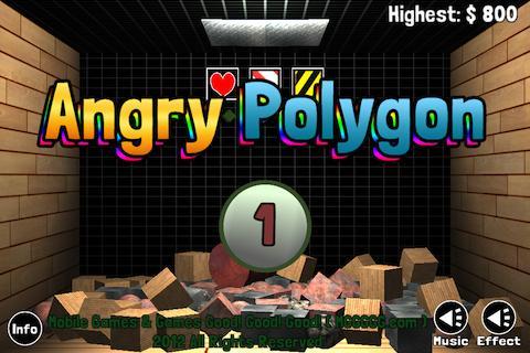 【免費街機App】憤怒的多邊形 - 捐款 (Angry Polygon)-APP點子