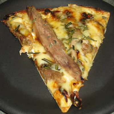 Duck and Fontina Pizza With Rosemary and Caramelized Onions