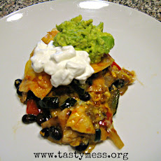 Stacked Roasted Veggie Enchiladas