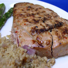 Bek's Grilled Tuna Steaks Glazed With Ginger, Lime, and Soy OAMC