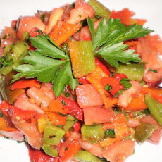 Moroccan Tomato and Capsicum Salad