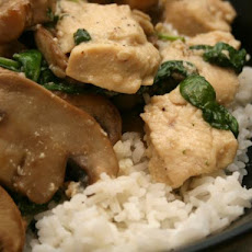 Chicken With Spinach & Mushroom