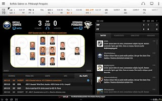 Screenshot of NHL GameCenter