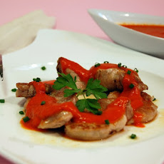 Pork Tenderloin with Red Bell Pepper Sauce