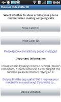 Screenshot of Caller ID Manager