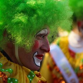 The Clown by VAM Photography - City,  Street & Park  Street Scenes ( parade, macy]s, clown, street, man,  )