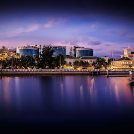 Labuan City.. by Daimasara Abdullah - City,  Street & Park  Night